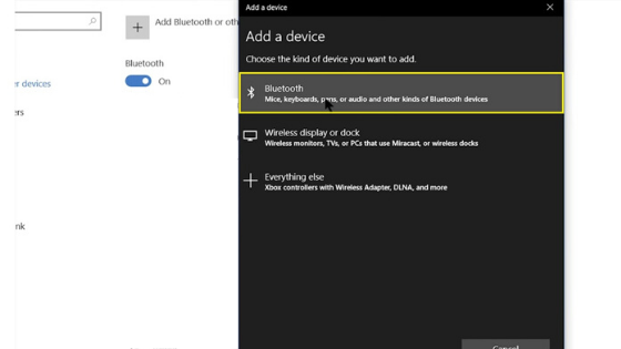 windows 10 bluetooth setting